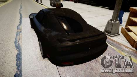 Mazda RX-7 for GTA 4 back left view