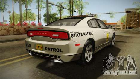 Dodge Charger 2012 SA State Patrol for GTA San Andreas back left view