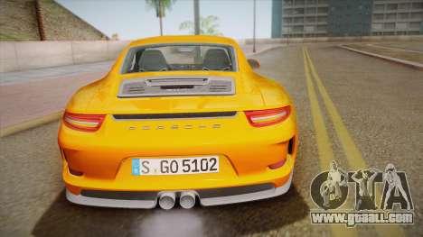 Porsche 911 R (991) 2017 v1.0 for GTA San Andreas upper view