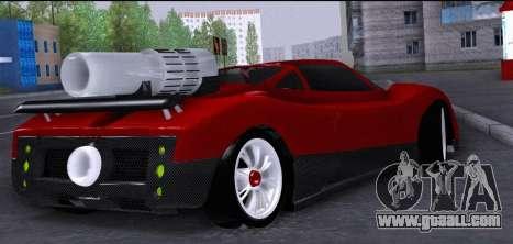 Pagani Zonda Revolucion 2016 for GTA San Andreas back left view