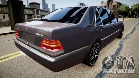 Mercedes-Benz S70 for GTA 4 back left view