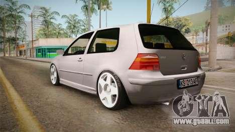 Volkswagen Golf Mk4 GTI for GTA San Andreas left view