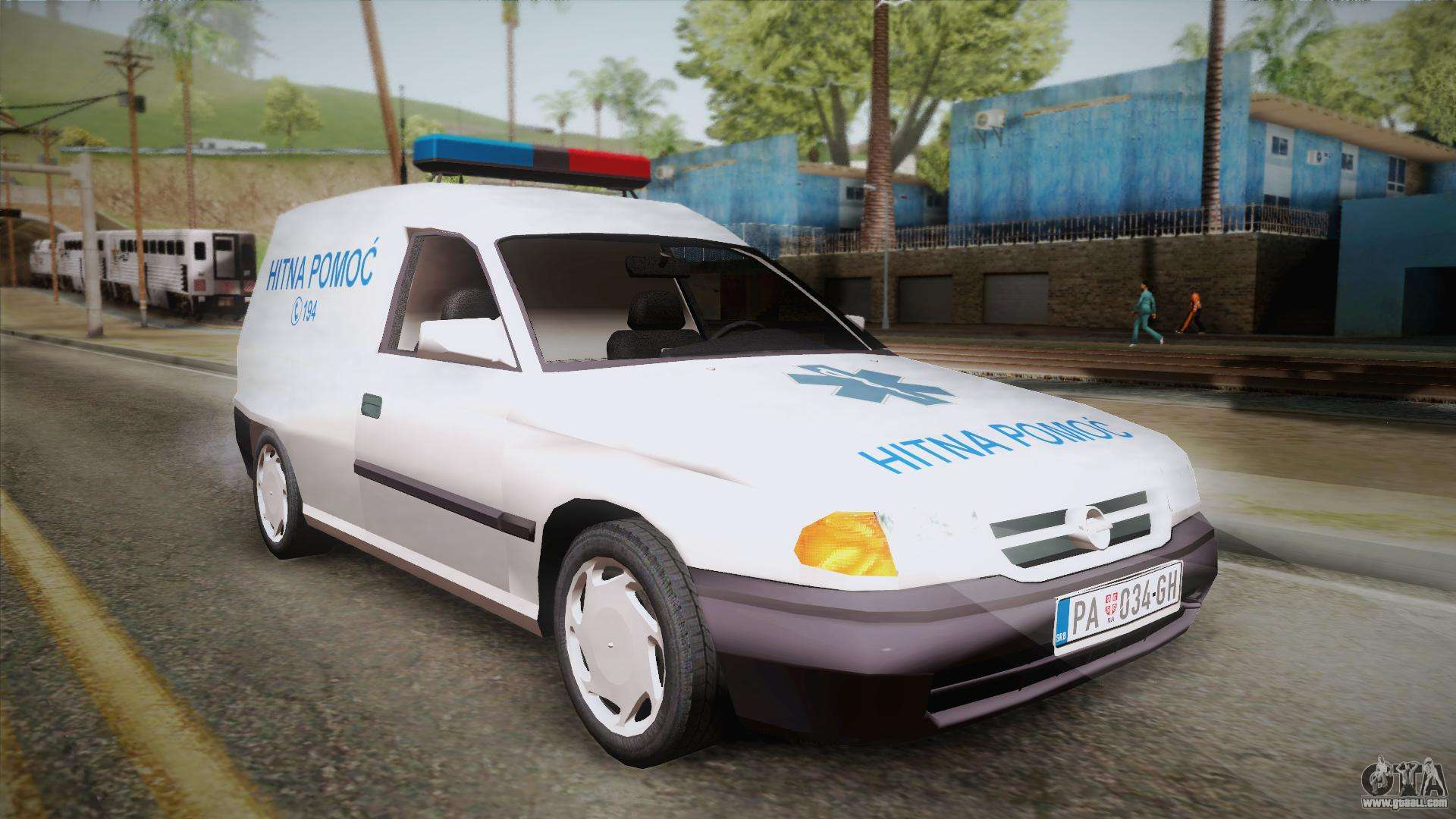 opel astra f van ambulance for gta san andreas. Black Bedroom Furniture Sets. Home Design Ideas