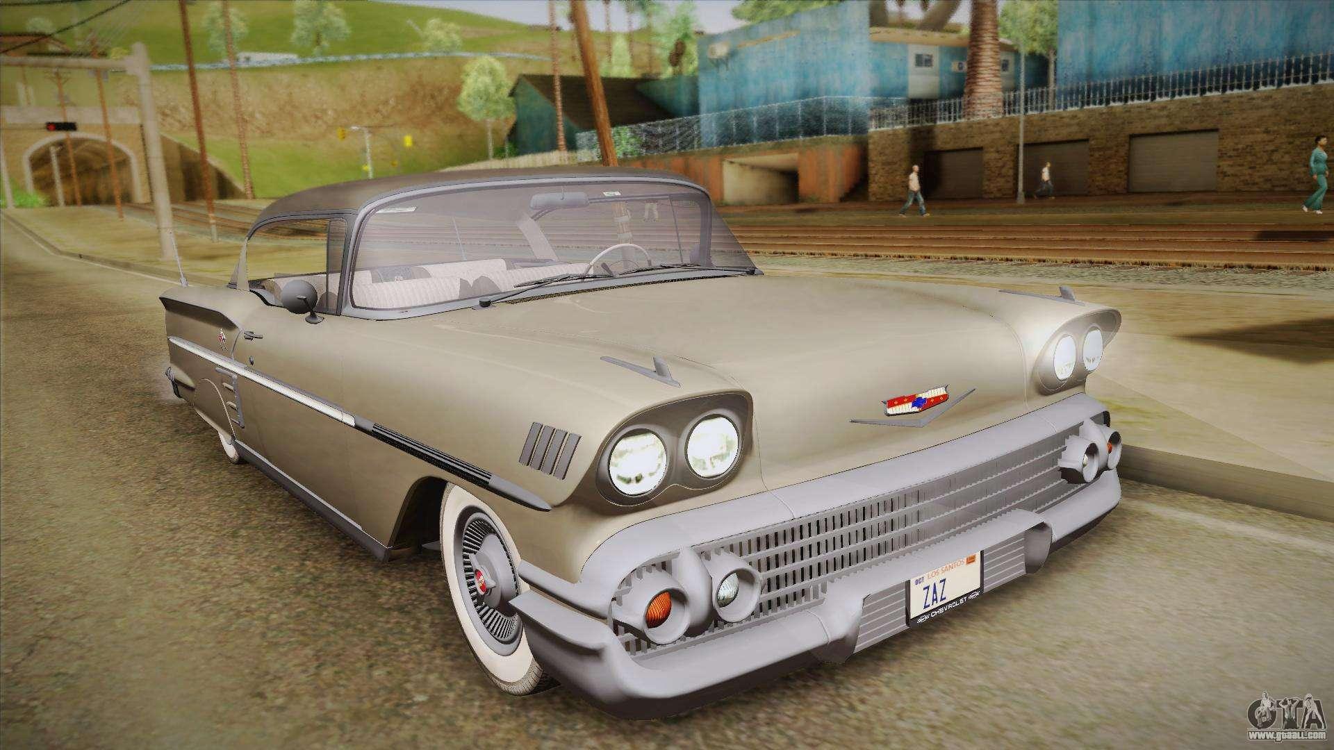 Chevrolet impala 4 door hardtop 1963 for gta san andreas - Chevrolet Impala Sport Coupe V8 1958 Hqlm For Gta San Andreas