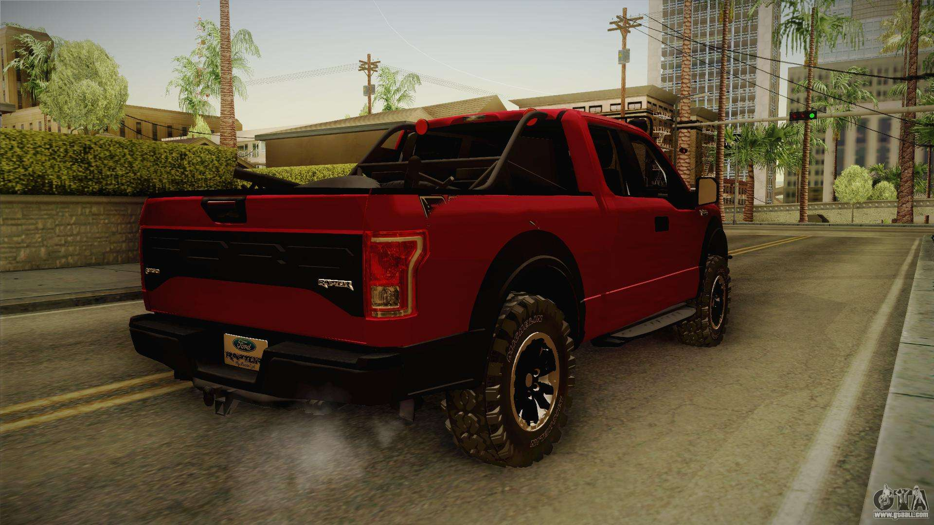 Ford f 150 raptor 2017 beta for gta san andreas back left view