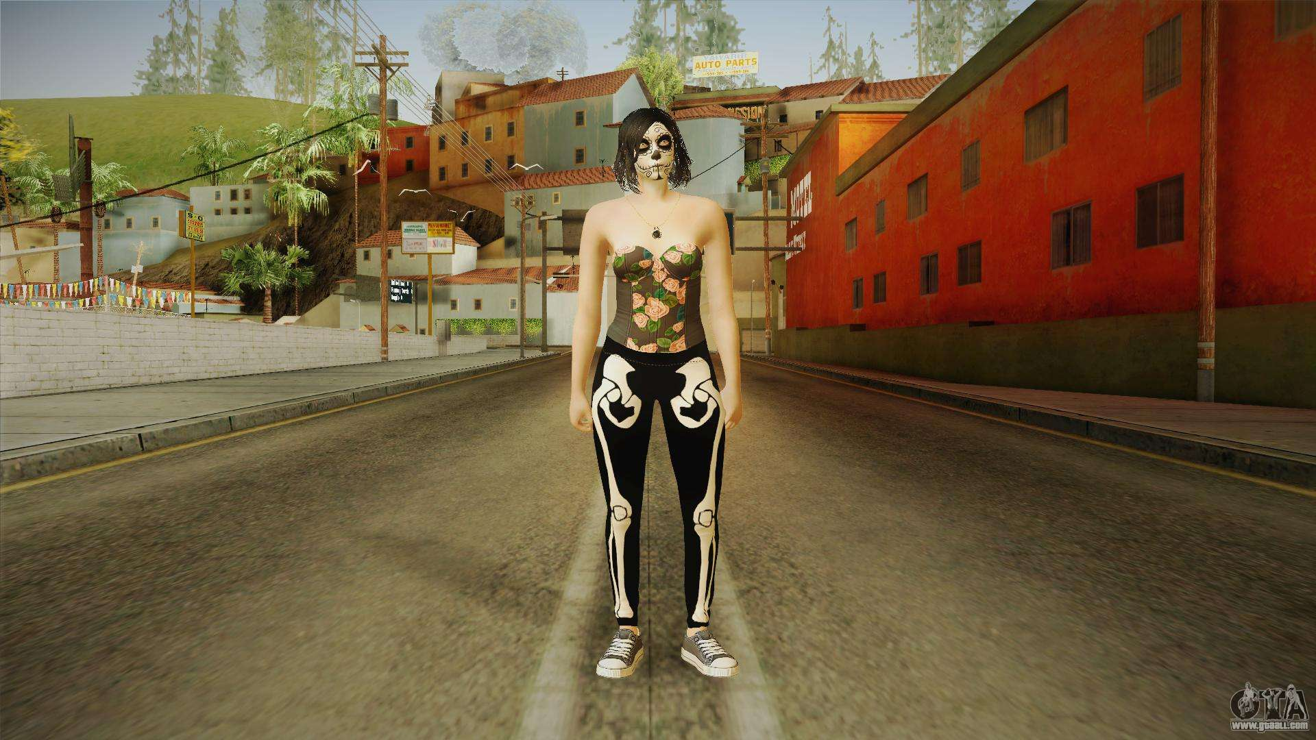 Halloween Surprise DLC Female Skin for GTA San Andreas