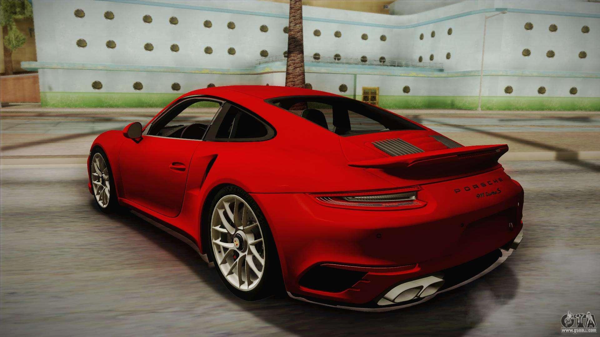porsche 911 turbo s 2017 for gta san andreas. Black Bedroom Furniture Sets. Home Design Ideas