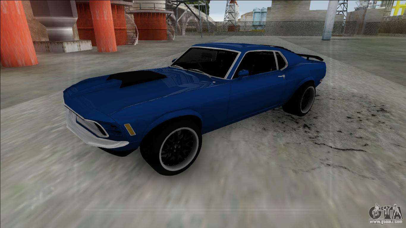1970 ford mustang boss 429 for gta san andreas