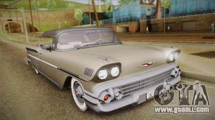 Chevrolet Impala Sport Coupe V8 1958 HQLM for GTA San Andreas