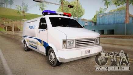 Brute Pony 1992 Metropolitan Police Department for GTA San Andreas