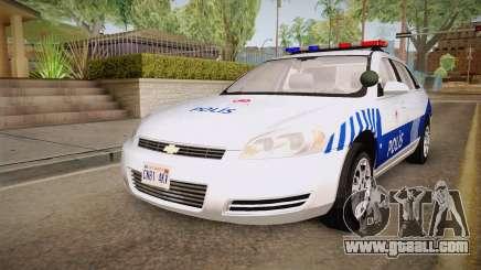 Chevrolet Impala Turkish Police for GTA San Andreas