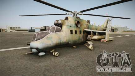 CoD Series - Mi-24D Hind Woodland for GTA San Andreas