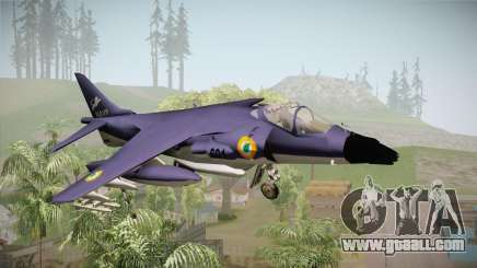 Sea Harrier White Tigers Squadron Indian Navy for GTA San Andreas