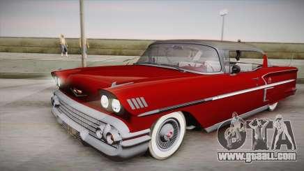 Chevrolet Impala Sport Coupe V8 1958 IVF for GTA San Andreas