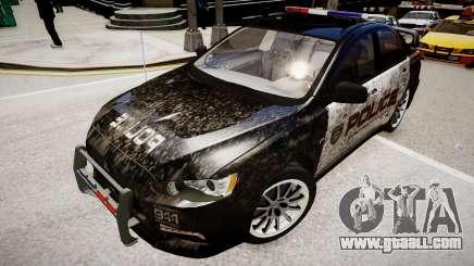 Mitsubishi Evo-IX Cop for GTA 4