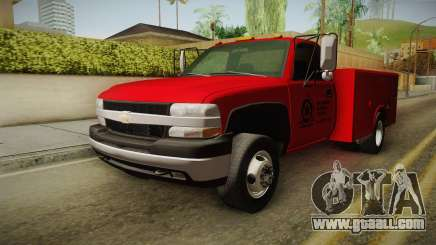 Chevrolet Silverado 2500HD Utility 2001 HQLM for GTA San Andreas
