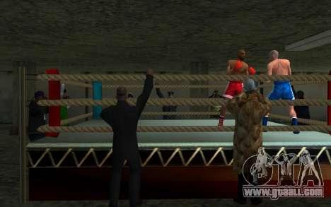 Illegal Boxing tournament 1.0 for GTA San Andreas second screenshot