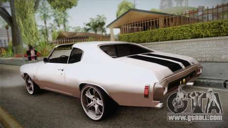Chevrolet Chevelle SS 1970 for GTA San Andreas left view
