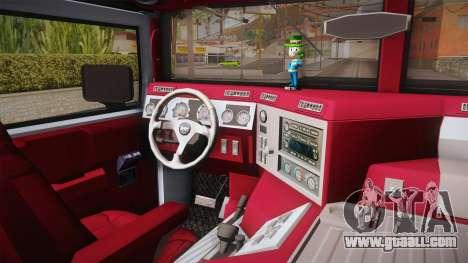 Hummer H1 Monster for GTA San Andreas inner view