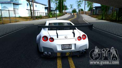 Nissan GT-R R35 Rocket Bunny v2 for GTA San Andreas back left view