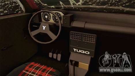 Yugo Koral 55 Winter for GTA San Andreas inner view