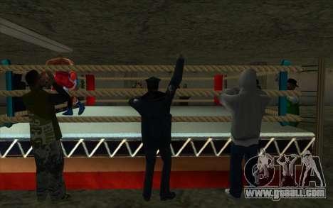 Illegal Boxing tournament 1.0 for GTA San Andreas forth screenshot