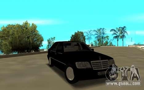 Mercedes-Benz 600SEL W140 for GTA San Andreas