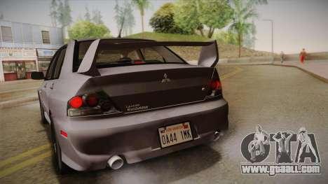 Mitsubishi Lancer GSR Evolution VIII 2003 for GTA San Andreas inner view