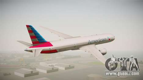 Boeing 787 American Airlines for GTA San Andreas left view