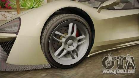 GTA 5 Progen Itali GTB for GTA San Andreas back view