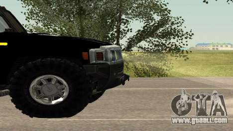 Hummer H2 Police V1 for GTA San Andreas inner view