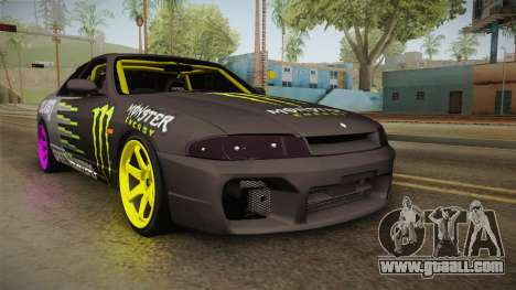 Nissan Skyline R33 Drift Monster Energy Falken for GTA San Andreas