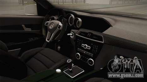 Mercedes-Benz C63 AMG 2012 for GTA San Andreas inner view