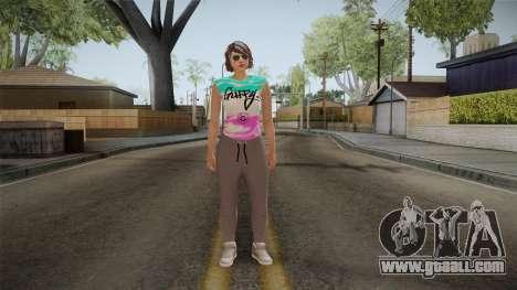 GTA Online DLC Import-Export Female Skin 1 for GTA San Andreas second screenshot