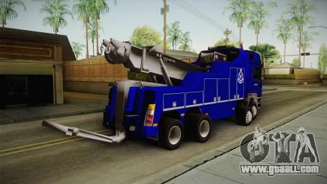 MAN F2000 Tow Truck PDRM for GTA San Andreas right view