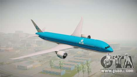 Boeing 787 KLM for GTA San Andreas back left view