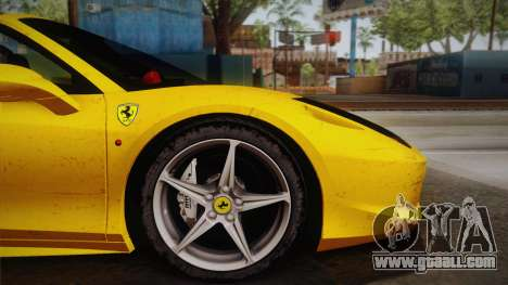 Ferrari 458 Spider FBI for GTA San Andreas back left view