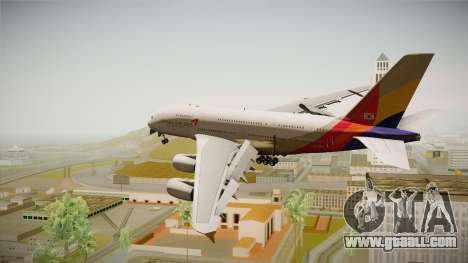 Airbus A380 Asiana Airline for GTA San Andreas left view