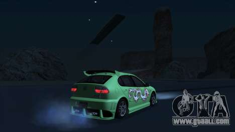 2003 Seat Leon Cupra R Series I for GTA San Andreas back view