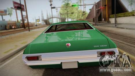 Ford Gran Torino 1972 for GTA San Andreas back view