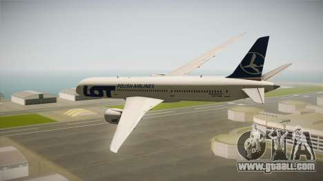 Boeing 787 LOT Polish Airlines for GTA San Andreas right view