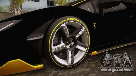 Lamborghini Centenario LP770-4 2017 Carbon PJ for GTA San Andreas back view