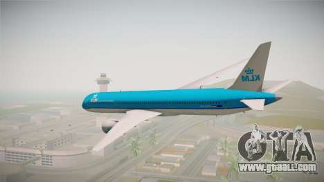 Boeing 787 KLM for GTA San Andreas right view