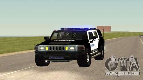 Hummer H2 Police V1 for GTA San Andreas right view