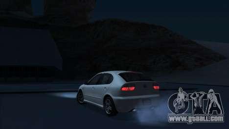 2003 Seat Leon Cupra R Series I for GTA San Andreas back left view