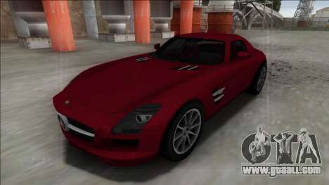 2010 Mercedes-Benz SLS AMG FBI for GTA San Andreas back left view