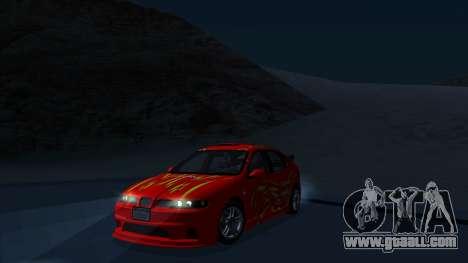 2003 Seat Leon Cupra R Series I for GTA San Andreas inner view