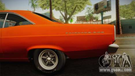 Ford Fairlane 500 1966 IVF for GTA San Andreas back view