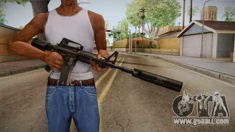 M4A1 Silenced for GTA San Andreas third screenshot