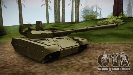 T-84 Oplot-M for GTA San Andreas back left view